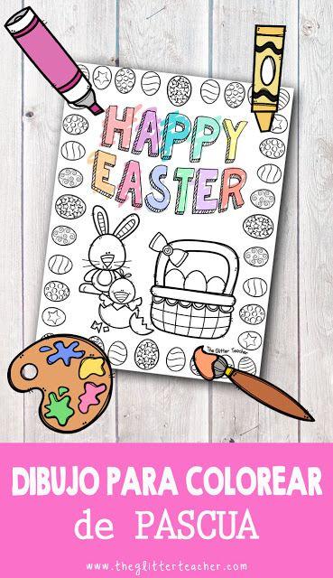 Dibujo para colorear de Pascua | Educacion primaria, Educacion ...