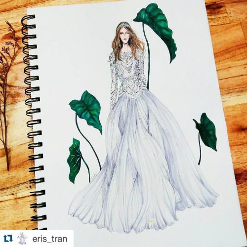 #Repost @eris_tran with @repostapp. @eliesaabworld haute couture spring 2016 full. #sketch .#sketchoftheday .#sketching . #draw .#drawingoftheday .#drawing .#eliesaab .#hautecouture .#paris .#parisfashionweek .#fashion .#fashionsketch...