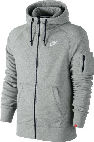 nike veste capuche en polaire aw77 pour homme gris gris small nike. Black Bedroom Furniture Sets. Home Design Ideas