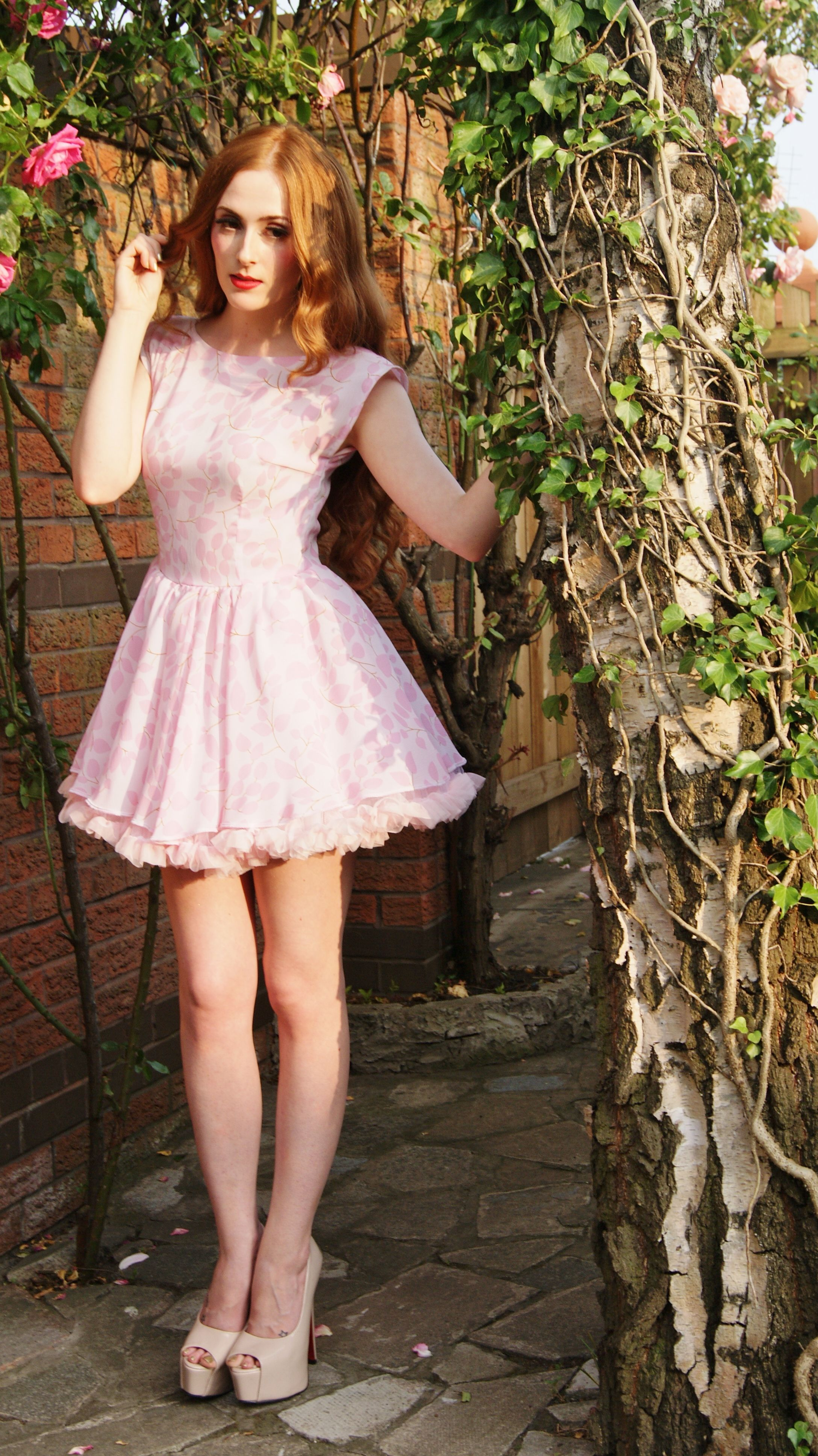 Short floral petticoat dress. Made to order | Stacey ...