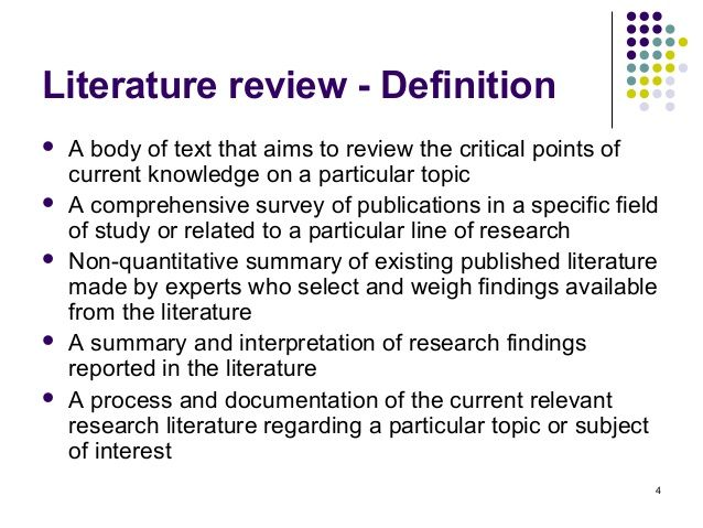 Literature Review Literature Definition Definition Of Research Literature