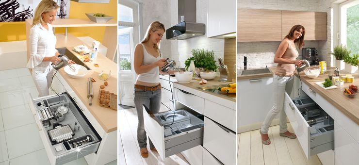 Küche; Strom aus dem Schubkasten Elektro-Organisation Küche - organisation kuchen schubladen