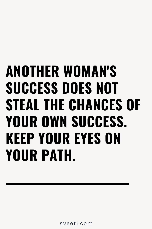 Success quote, women's empowerment.