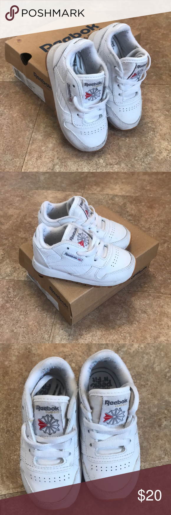hacha Montaña desnudo  Reebok Classic Leather Shoe Toddler Size US 6 Gently used. Great condition.  Original photo. Please check photo for… | Reebok classic, Classic leather, Leather  shoes