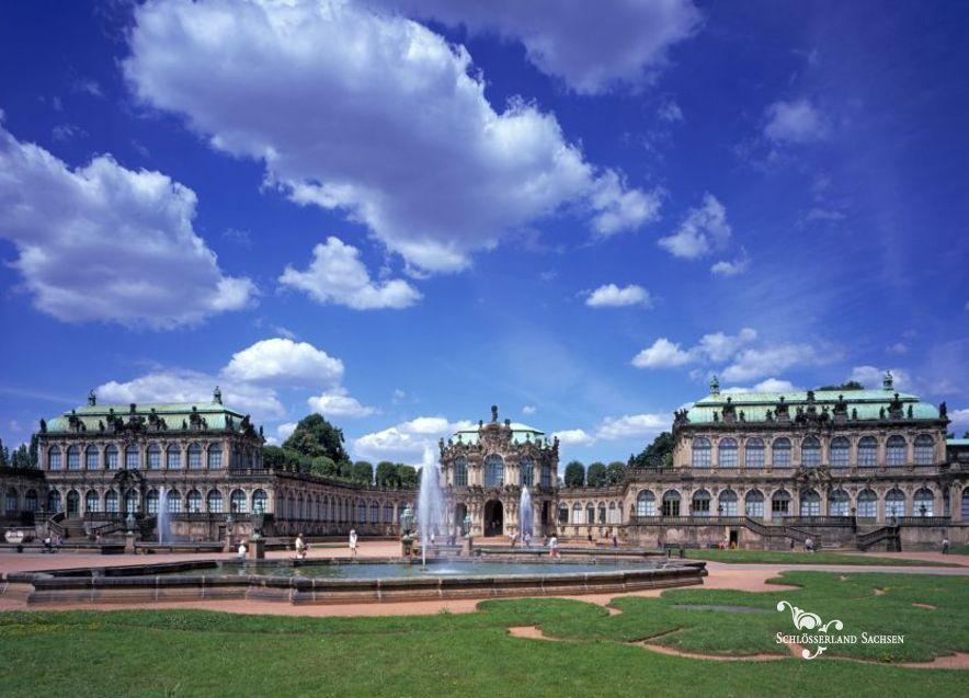 Dresden Zwinger Schlosserland Sachsen Castles Palaces And Gardens In Saxony Allemagne Autriche