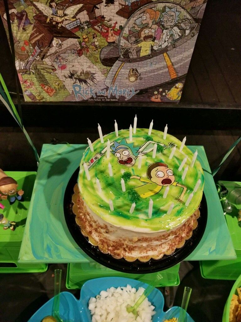 Rick And Morty Birthday Party Yummy Treats Rick And Morty