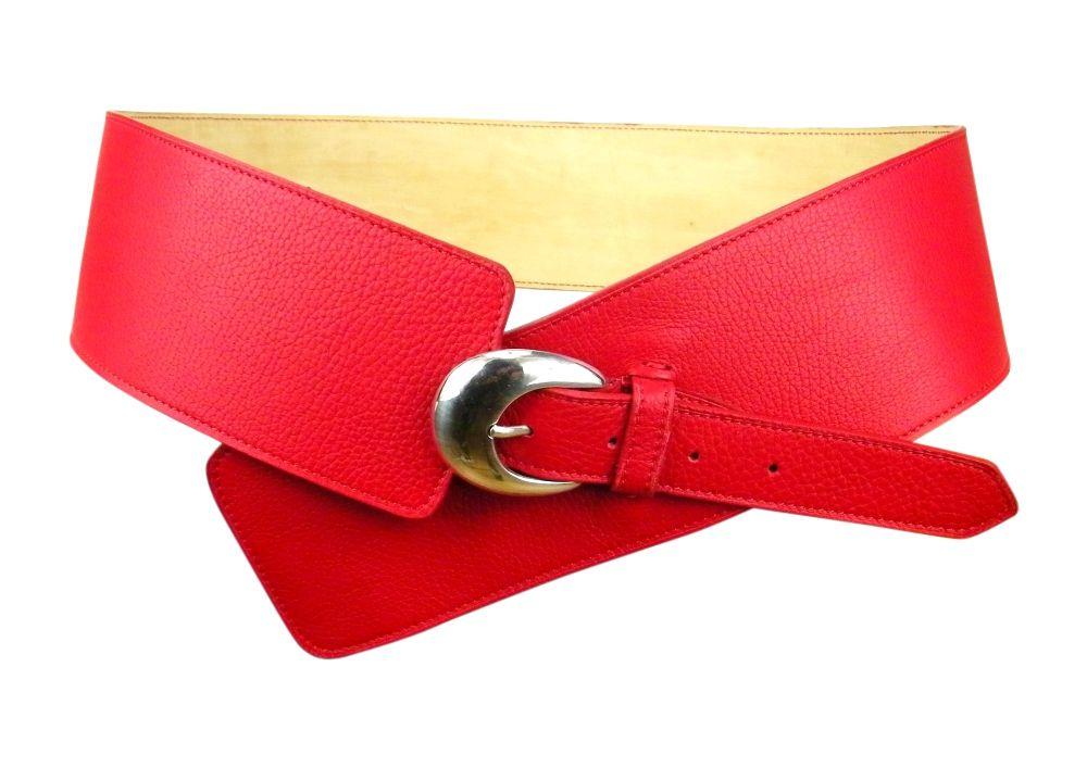 Retrouvez MLsellier ceinture large pour femme en cuir rouge avec Shoppinity b37aa12b656