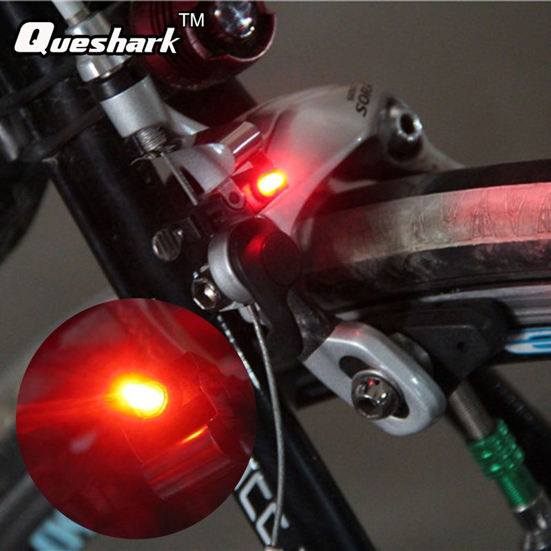 Mini Bike Bicycle Brake Light Mount Bicycle Tail Rear Light Cycling Night Lamp With Cr1025 Battery Waterproof Bi Bicycle Lights Bike Lights Bicycle Accessories