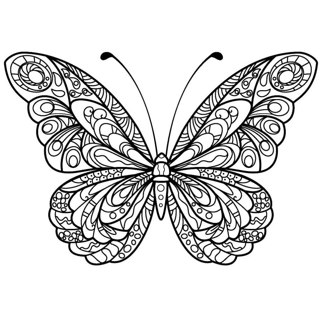 Butterfly tattoo idea | Butterfly coloring page, Butterfly ...
