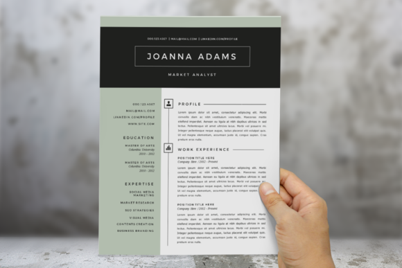 Modern Resume Templates Word Best 2 In 1 Modern Word Resume Templategraphicsauthor  Resume Cv