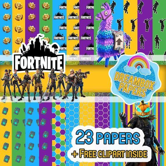 Fortnite Digital Papers Digital paper, Digital, Free