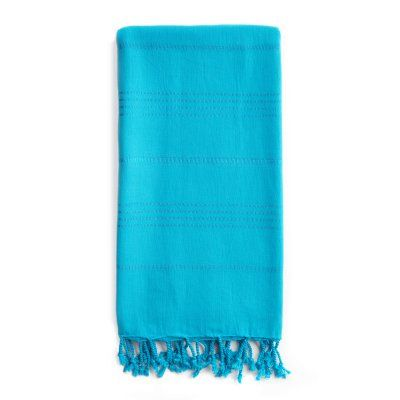 Linum Home Textiles Personalized Summer Fun Beach Pestemal Towel Turquoise - SMR45-LF-00-B, Durable