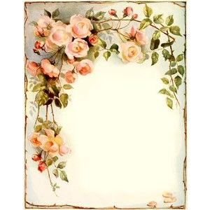 Free Printable Bookplate Vintage Pics Printables Pinterest Vintage Flowers Vintage Roses Antique Images