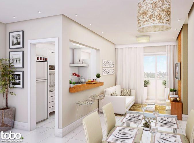 Decoracion de sala comedor y cocina en un mismo ambiente Decoracion espacios pequenos sala comedor