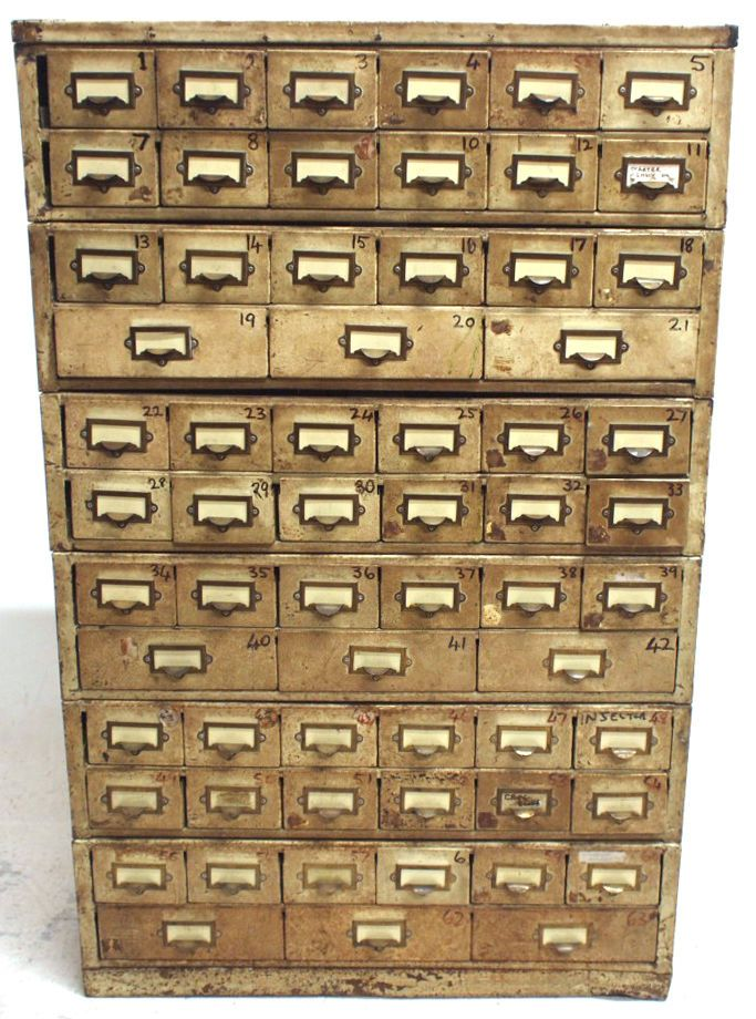 Vintage Industrial Metal Haberdashery Cabinet Multiple Drawers Retro Shop