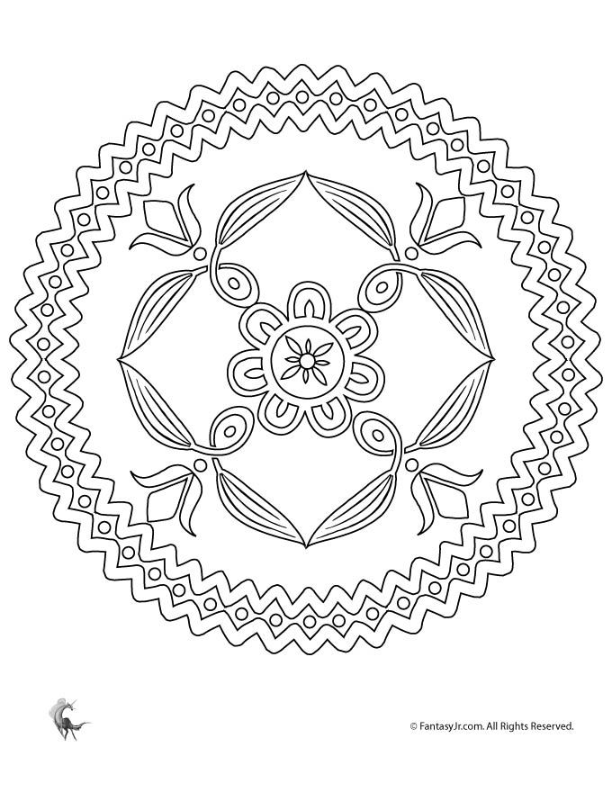 summer mandala coloring pages folk art flowers mandala coloring page fantasy jr