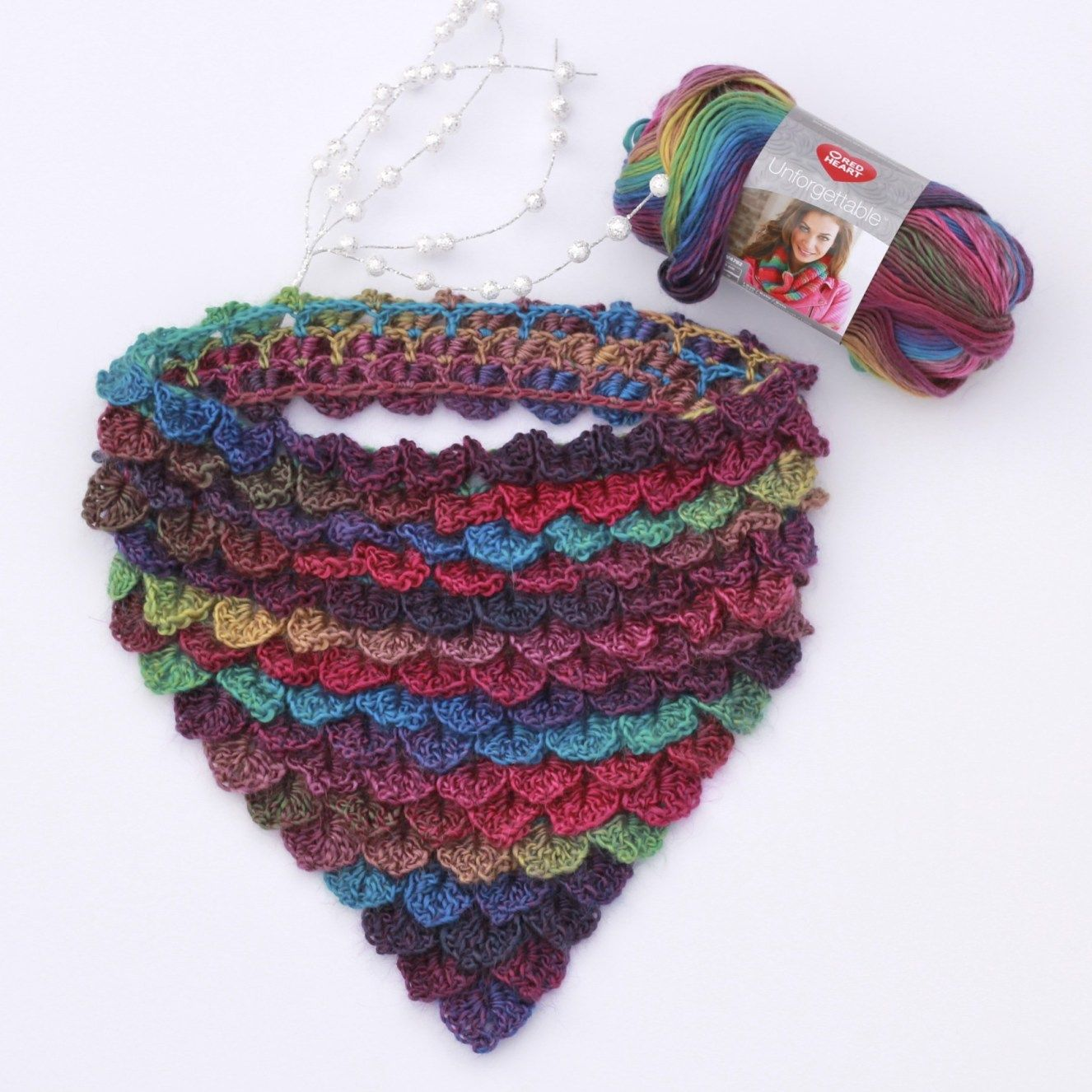 Stained Glass Dragon Scales Bandana Cowl Tutorial Free Crochet Cowl