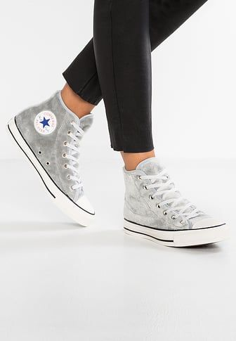 Chaussures Converse CHUCK TAYLOR ALL STAR BIG EYELETS - Baskets montantes -  pure platinum light carbon white gris clair  74 a144ea95082