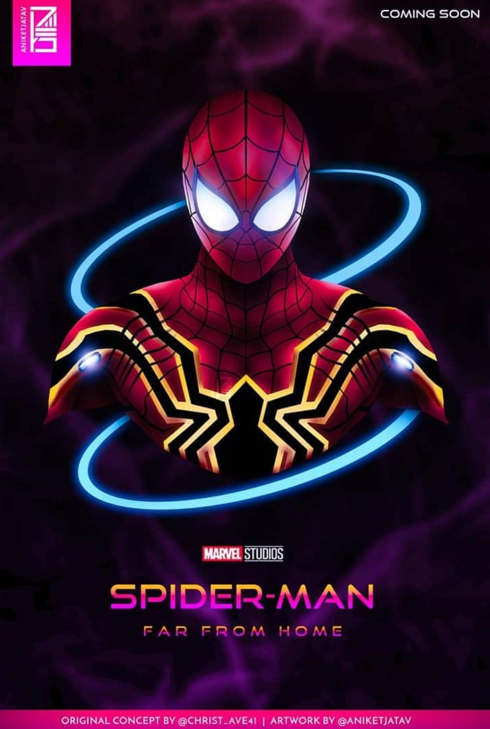 Spider Man Far From Home V 2 Neon Marvel Pinterest Spiderman