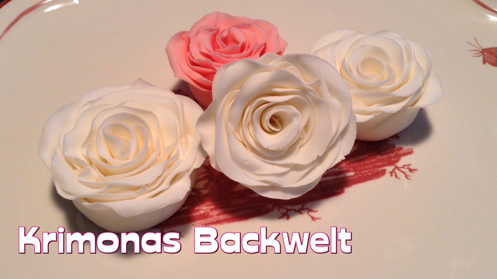 fondant rose mit der wickeltechnik herstellen how to make fondant roses wind technique in. Black Bedroom Furniture Sets. Home Design Ideas