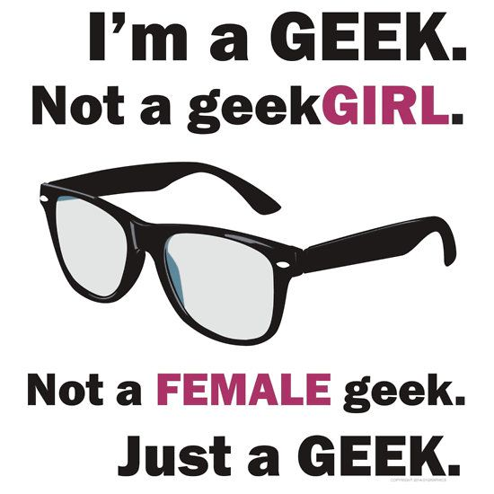 I'm a GEEK not a geekGIRL - shirts at redbubble