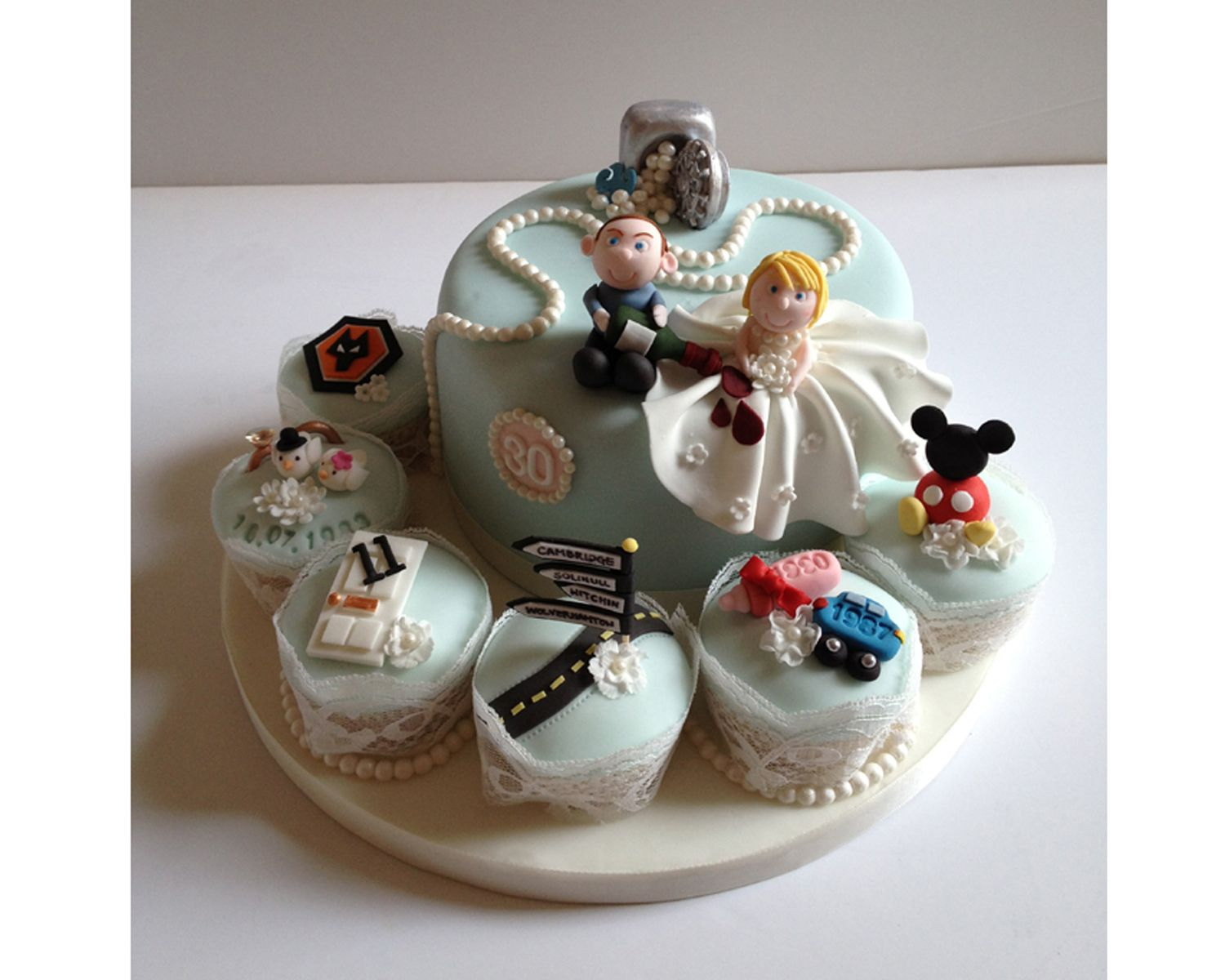 Pearl anniversary cake dream cakes and cookies pinterest pearl