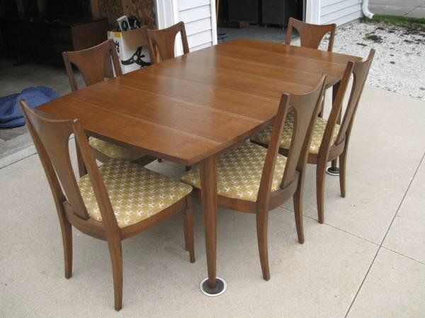 The Dining Table And Chairs Are Broyhill Brasilia I Reupholstered