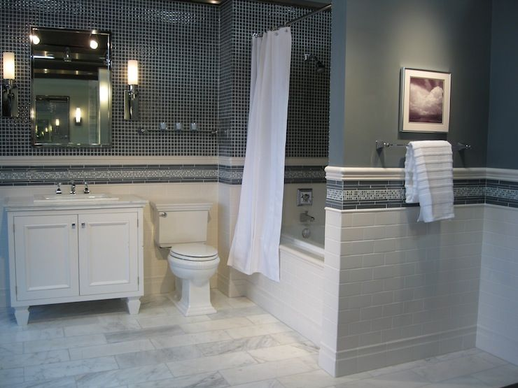 Bathrooms Tile From The Custom Vanity Chrome Accents Bathroom With White