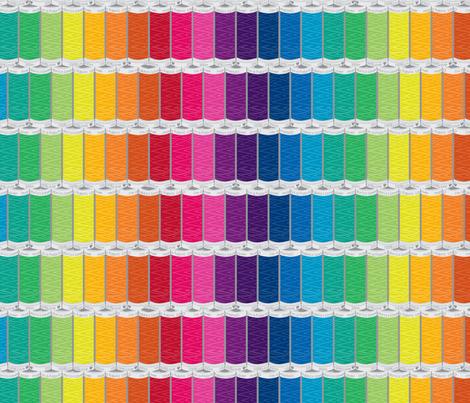 Rainbow Spools fabric by Mariao
