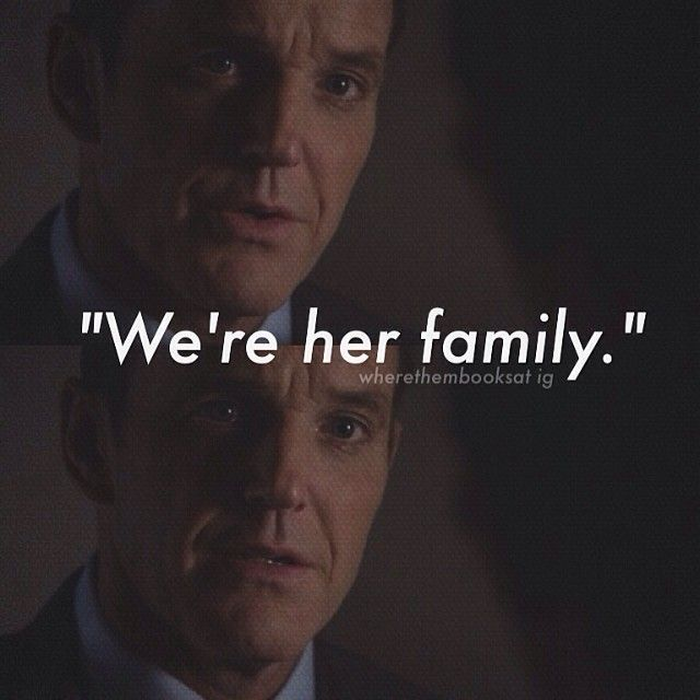 We're her family! My favorite line out of the whole series.