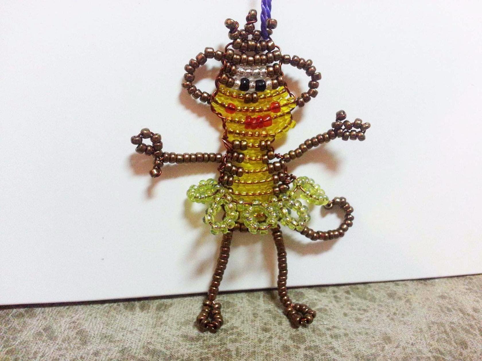 Обезьянка из бисера/Monkey Bead | bead weaving patterns (other ...
