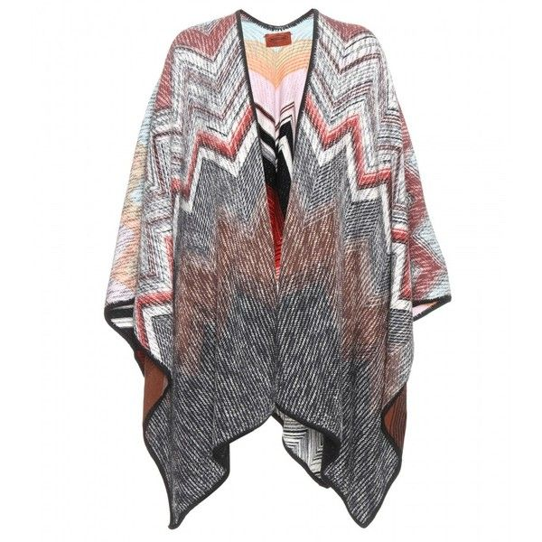 Missoni Reversible Wool Cape ($1,010) ❤ liked on Polyvore featuring  outerwear, multicoloured,
