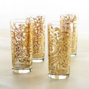 gold glass all gold glasses by new arcadia tumblers set of 4 gold wedding inspiration on kaboodle kitchen navy id=57210