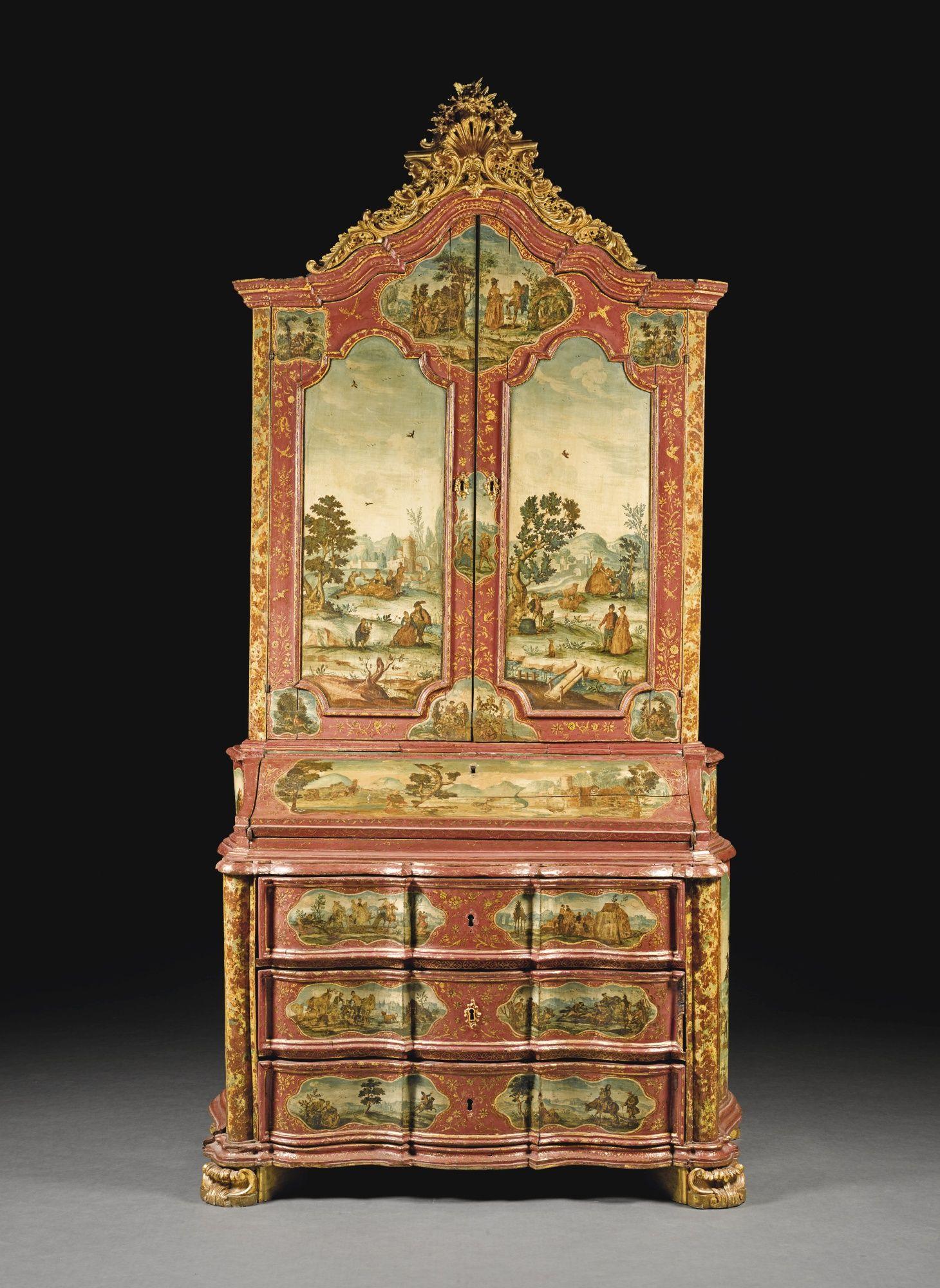 Date Unspecified An Italian Rococo Carved Giltwood Lacca Povera  # Muebles Arte Povera