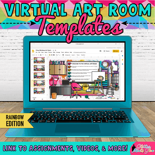 Virtual Art Room Templates In 2020 Virtual Art Art Room Art Curriculum