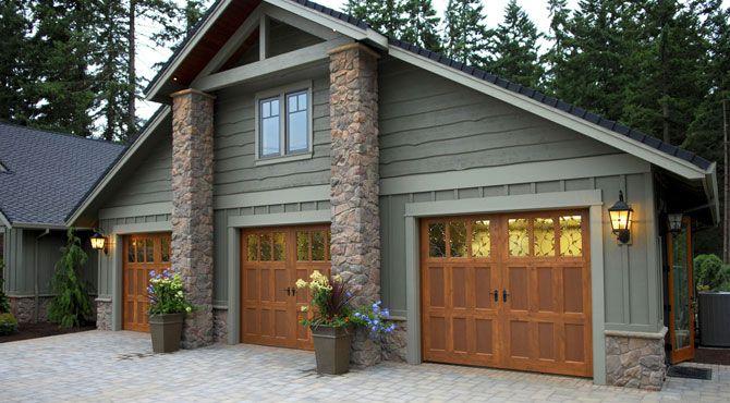 Wood Garage Doors Dream Home Pinterest Garage House Wood