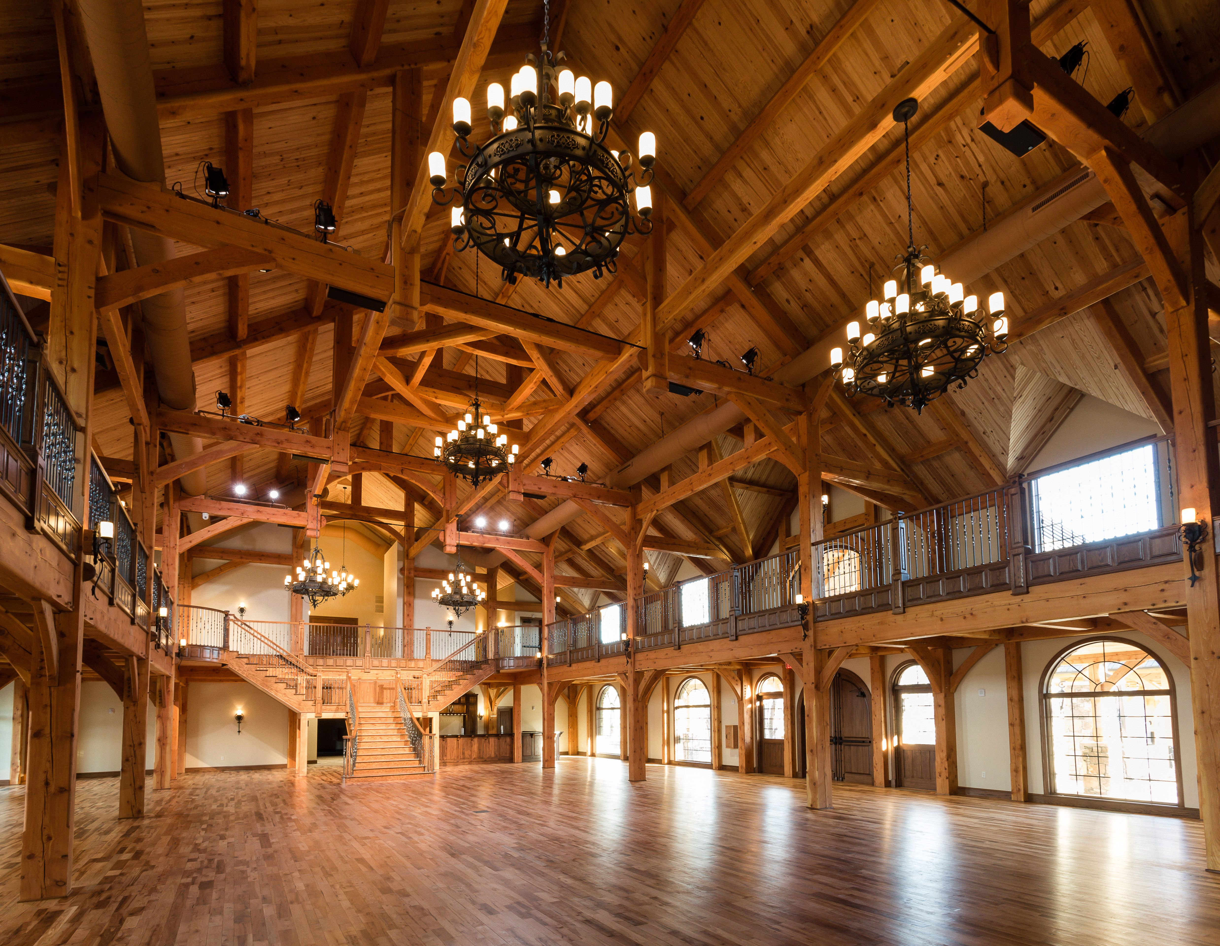 Beautiful Grand Hall of Heartlland Place at the 81 Ranch