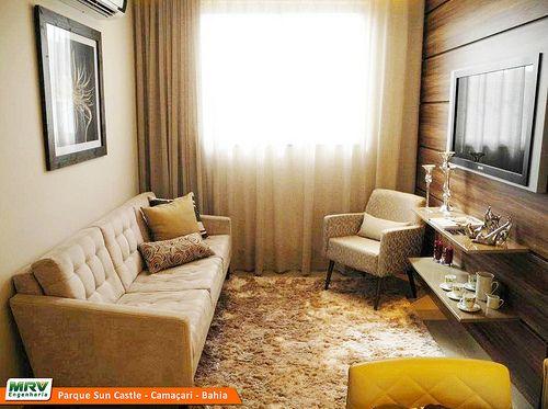 Decoração: Salas Pequenas De Apartamento   Cores Da Casa · Small Tv  RoomsSmall SpacesTv UnitIdeas ... Part 92