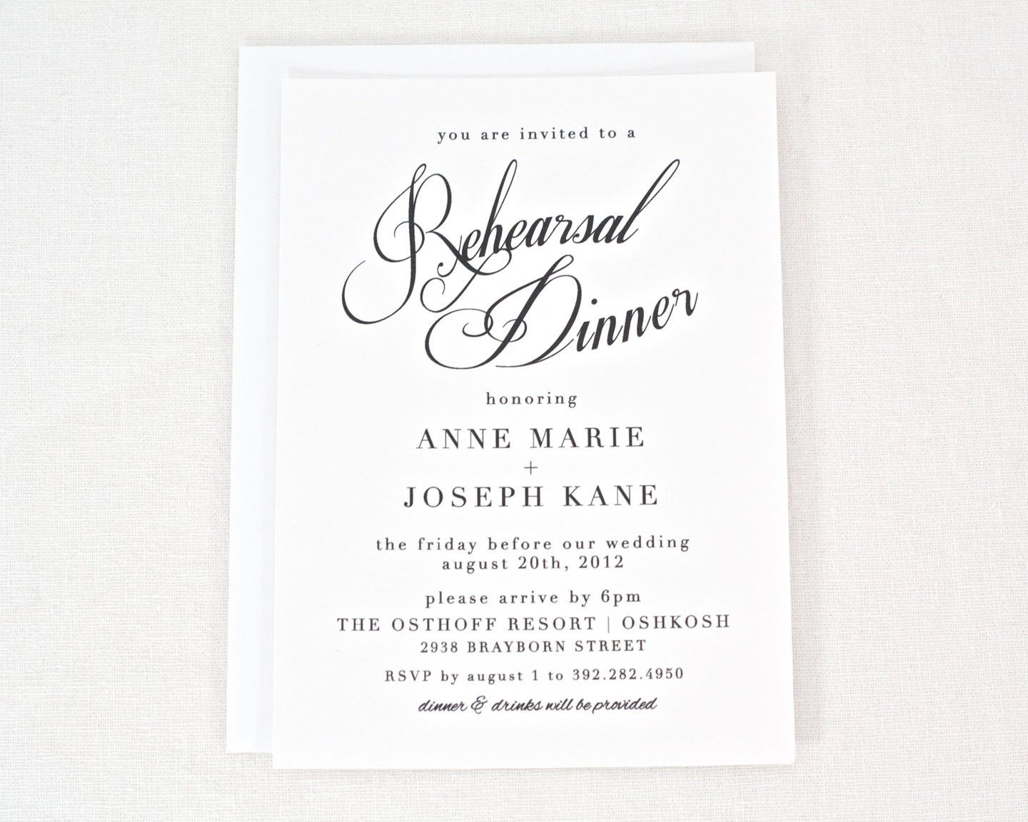 Free Rehearsal Dinner Invitation Templates Printable  Free Dinner Invitation Templates Printable