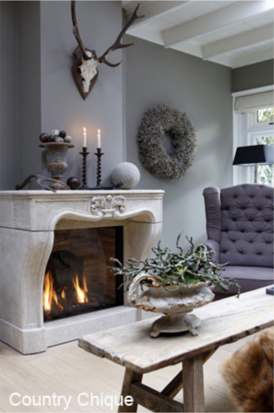 880 pixels wonen pinterest landelijk wonen - Interieur decoratie stenen huis ...