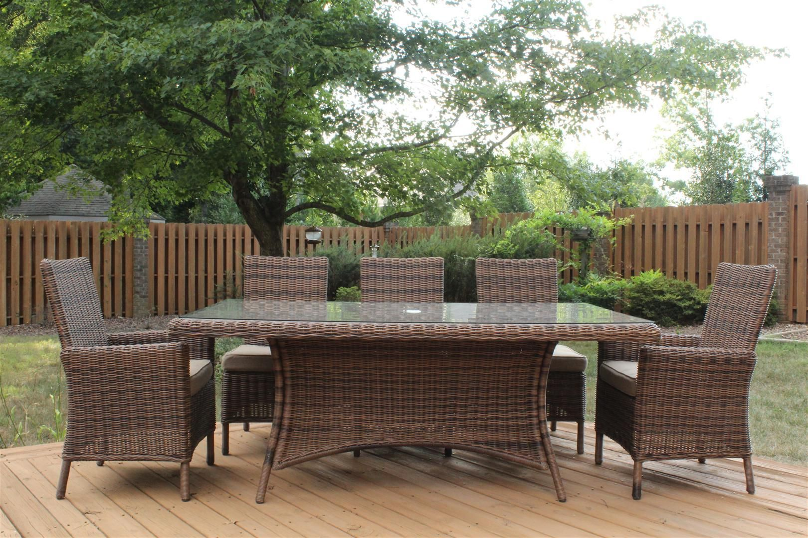 Merveilleux South Sea Rattan Del Ray 6 Piece Dining Set
