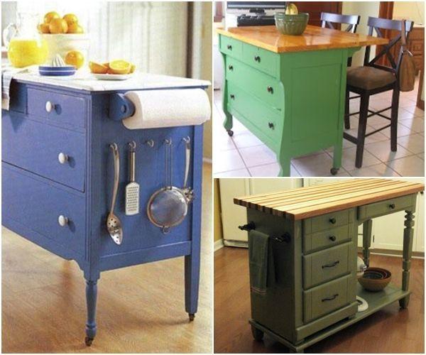 Islas para cocinas con muebles reciclados buscar con for Google muebles de cocina