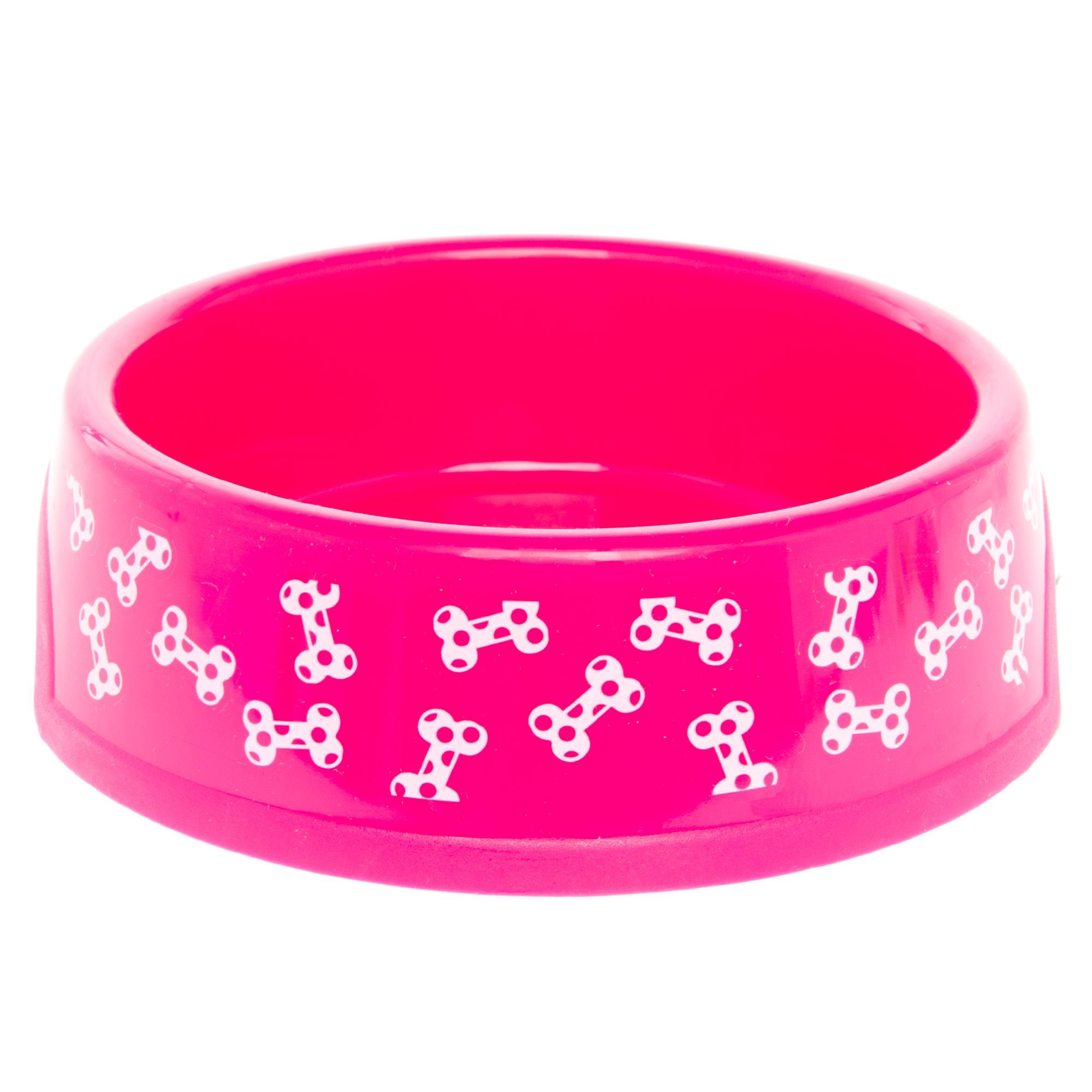 Grreat choice dog bowl size 125 pt pink plastic dog