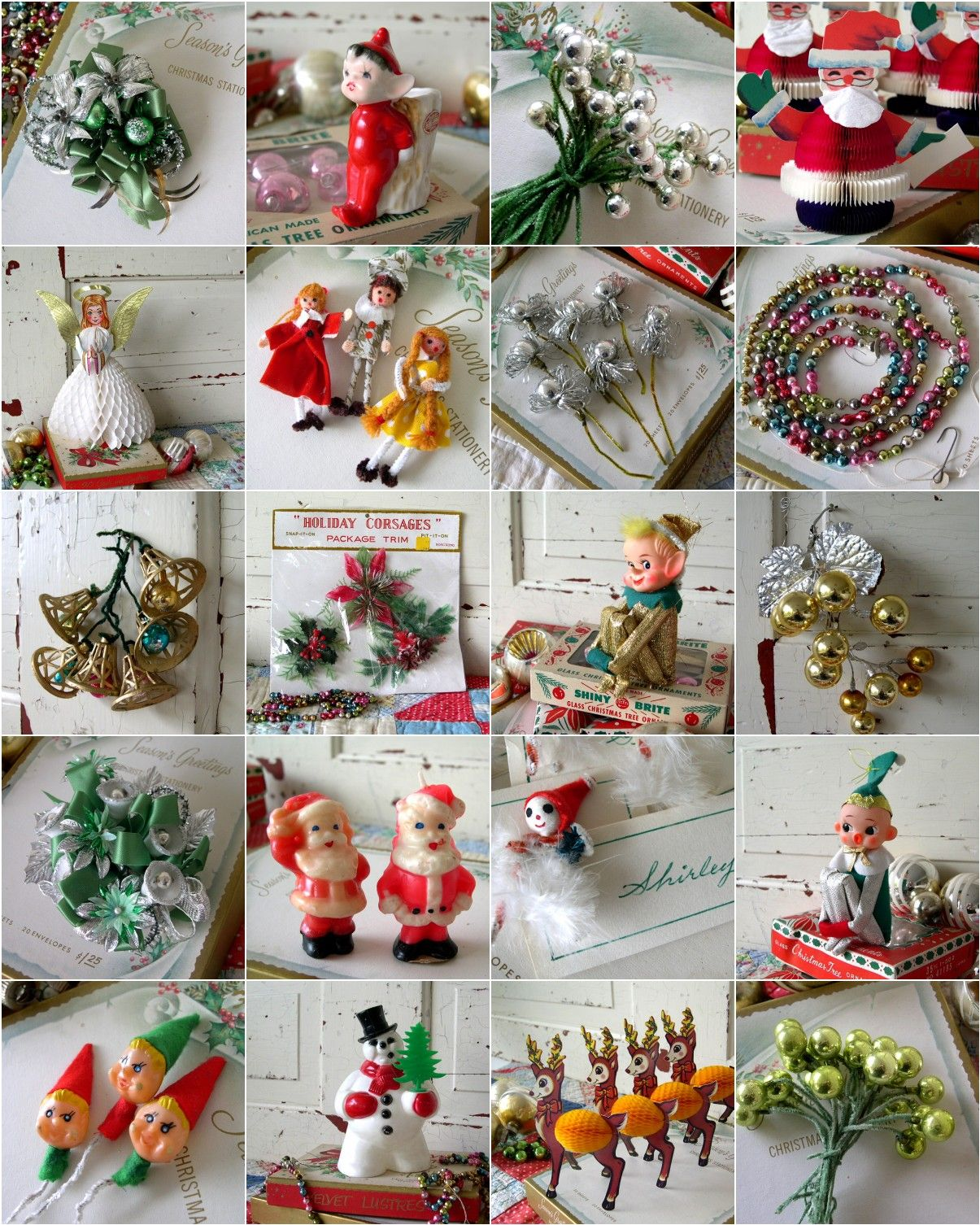 Old Christmas Tree Decorations: Vintage Christmas Decorations