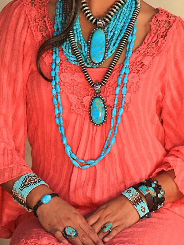18 Mm And 12 Mm Turquoise Jewelry Native American Turquoise Fashion