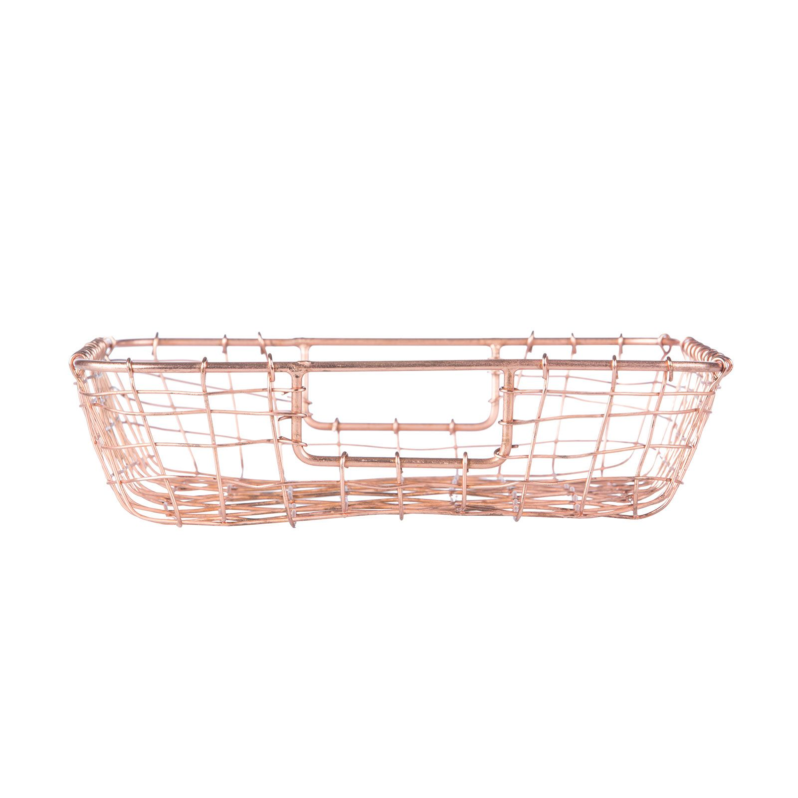 Who said organization had to be boring? This woven-wire paper tray ...
