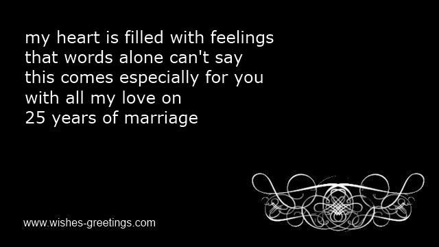 Image Result For 25th Wedding Anniversary Messages Husband
