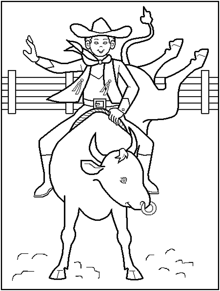 Free Printable Cowboy Coloring Pages For Kids Cute Coloring Pages Rodeo Crafts Animal Coloring Pages