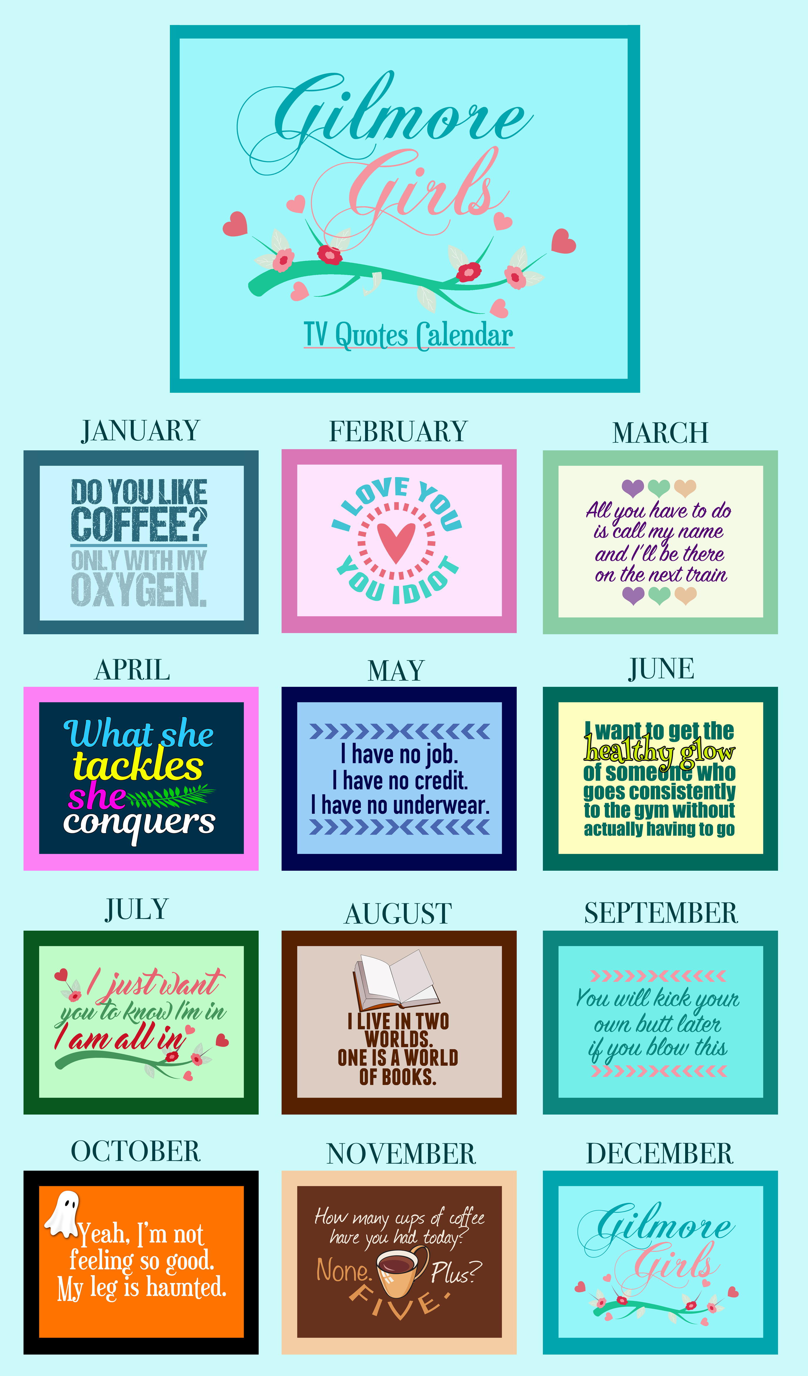 Gilmore Girls 2018 TV Quotes Calendar: Order now for a great ...