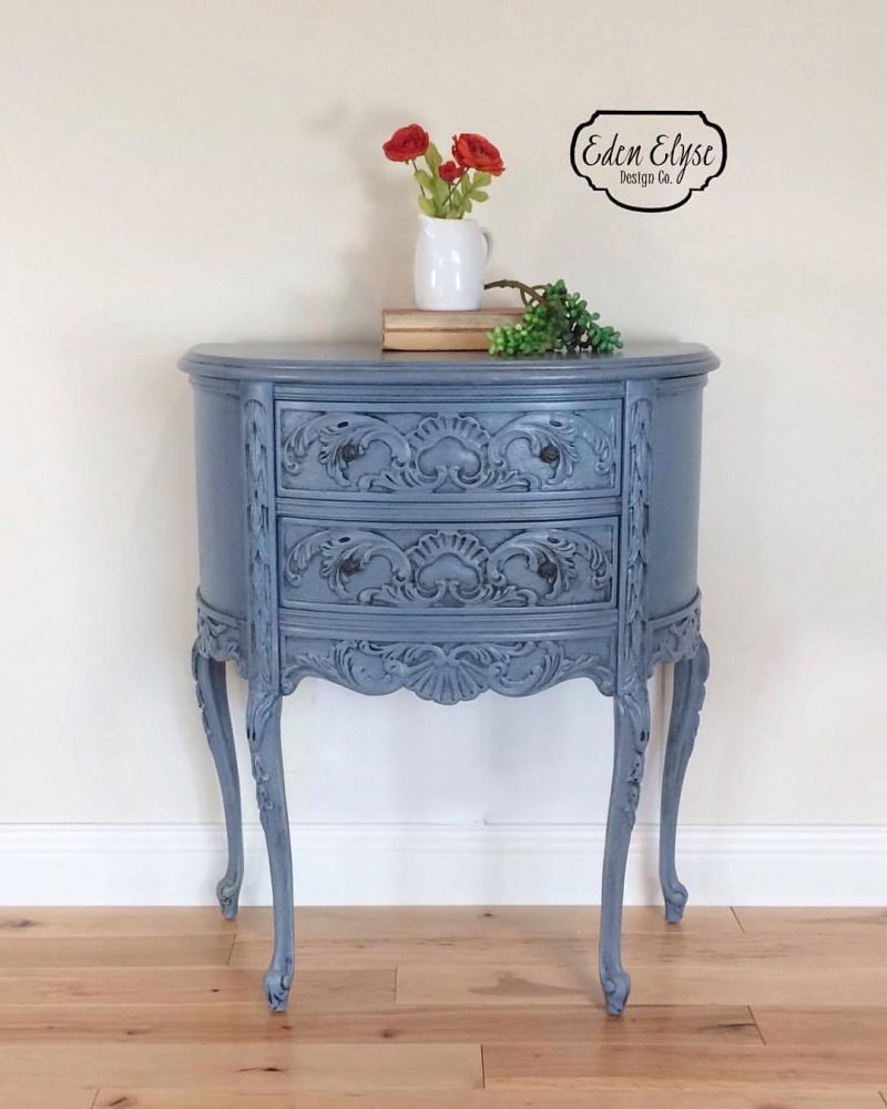 - Stillwater Blue Accent Table Painted Furniture, Painting